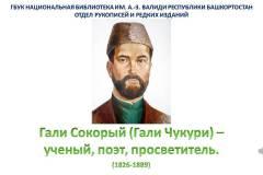 Гали Сокорый (Гали Чукури) – ученый, поэт, просветитель