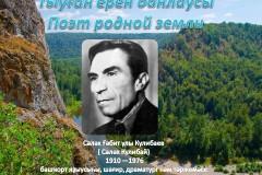 Поэт родной земли. Салях Кулибай.